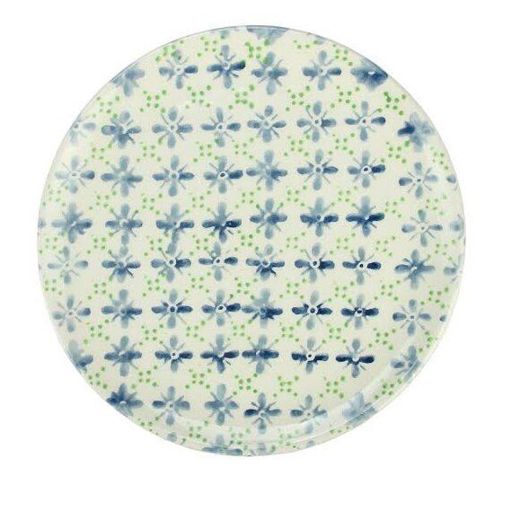 French Countryside 9.25 Decorative Flower Round Terracotta Dinner Plate by Northlight Seasonal