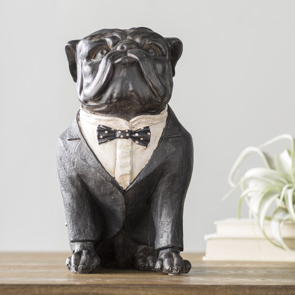 Ailis Bull Dog Figurine by Trent Austin Design