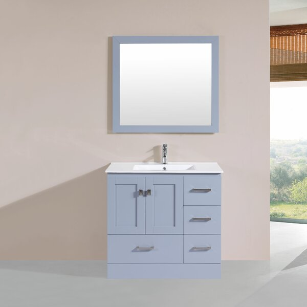 Landrum 36 Single Modern Bathroom Right Side Cabinet Vanity Set by Latitude Run