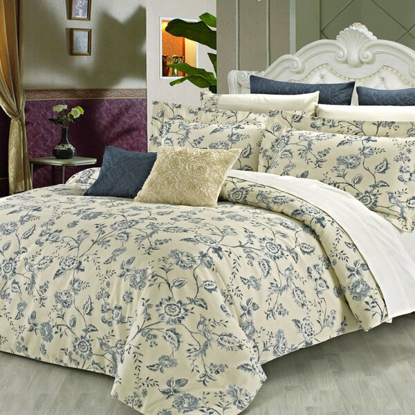 Wedgewood 3 Piece Reversible Duvet Cover Set