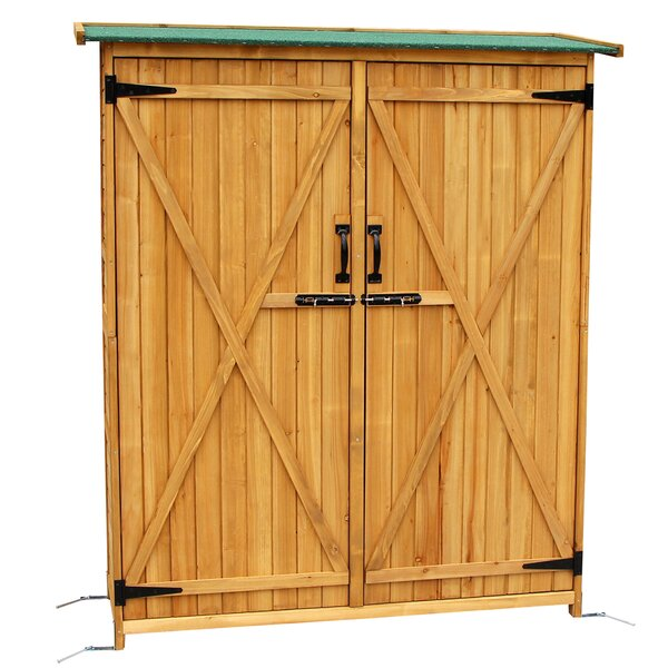 Tall Fir 4.15 ft. W x 1.64 ft. D Solid Wood Lean-To Tool Shed by MCombo