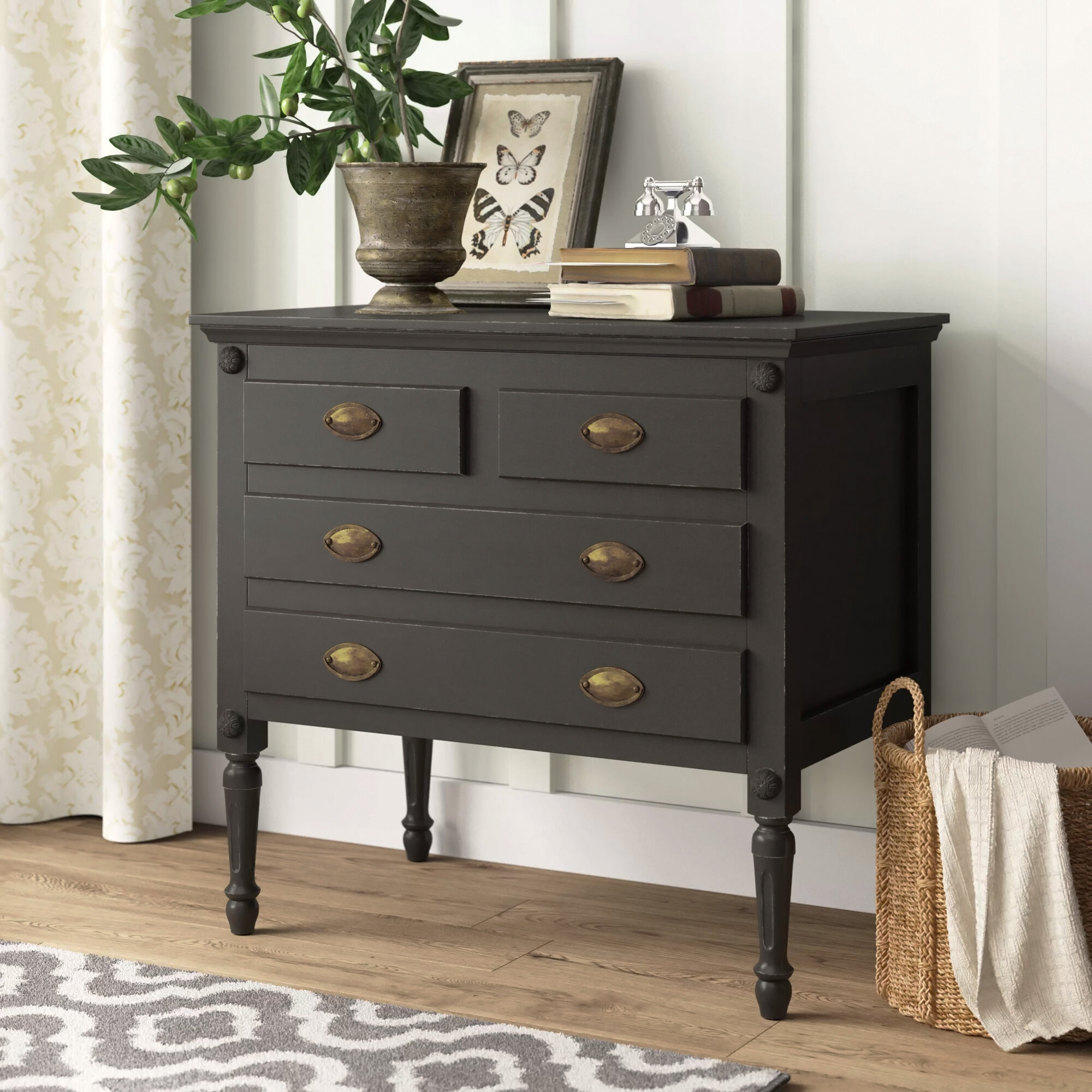 Birch Lane Easterbrook 4 Drawer Accent Chest Reviews Wayfair