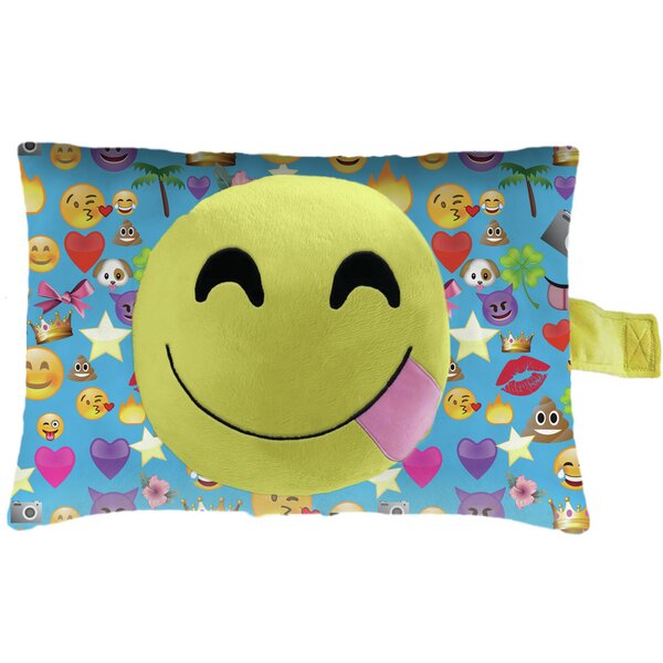 Smiley Face Plush Chenille Throw Pillow by Pillow Pets