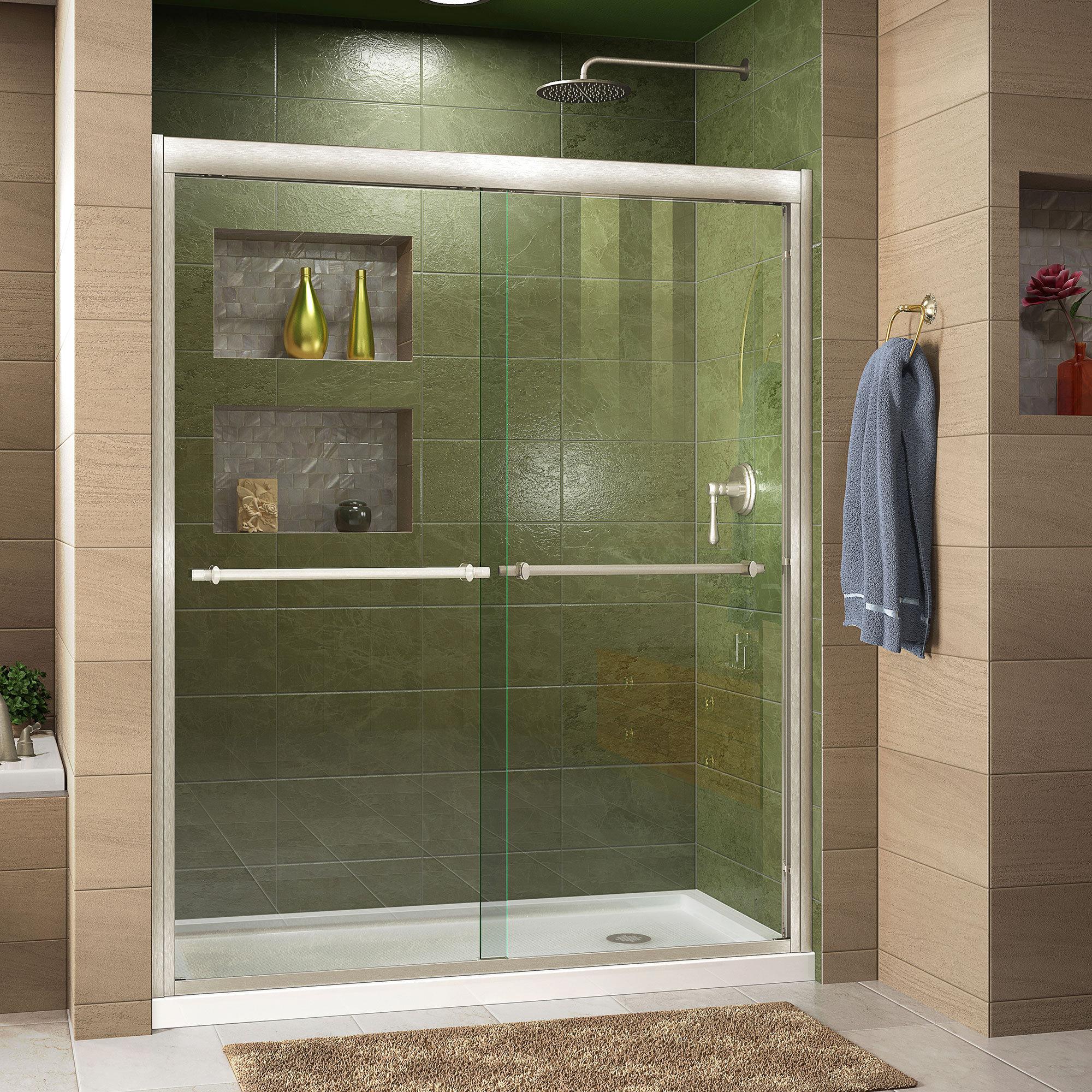 Duet 48 X 74 75 Bypass Semi Frameless Shower Door