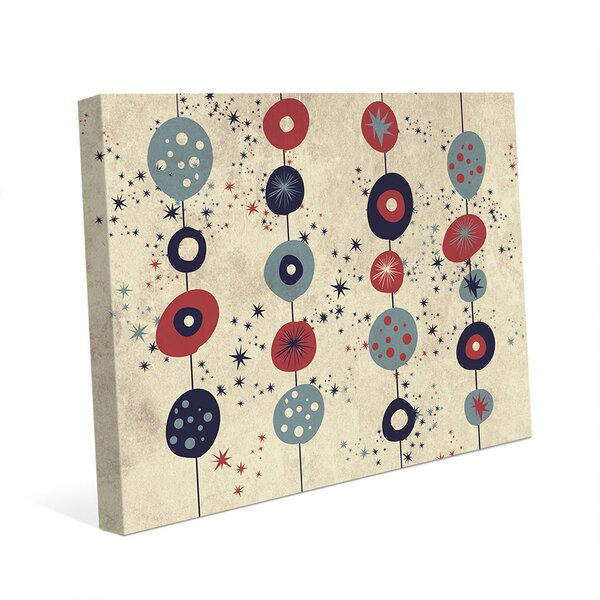 Sparkling Vermillion Culture Graphic Art on Wrapped Canvas by Click Wall Art