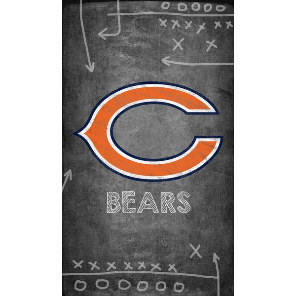 NFL Chalk Board Graphic Art Print on Canvas by Fan