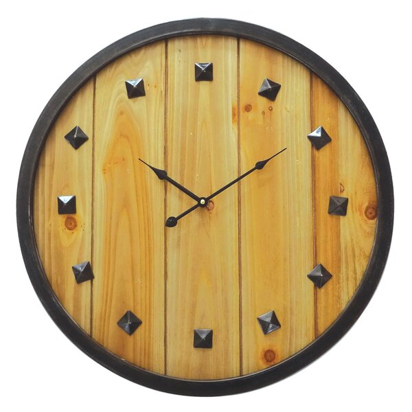 Oversized Rustic Roaming 23.75 Wall Clock by Union Rustic