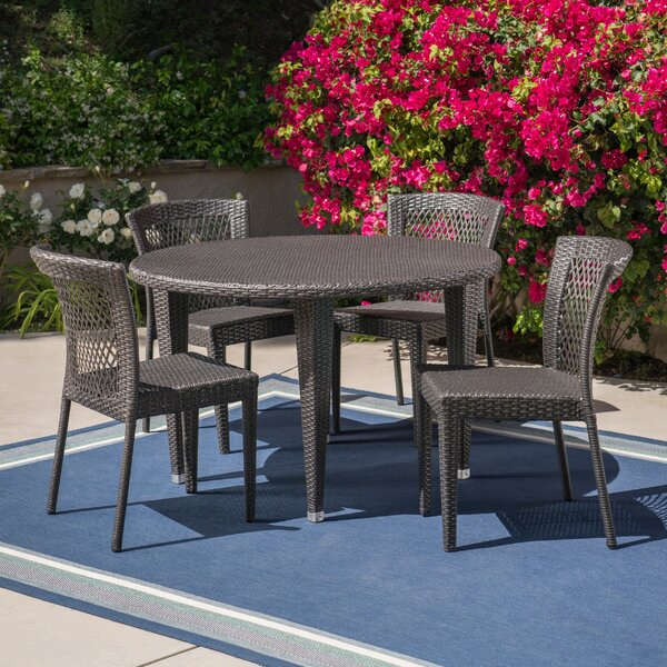 Haden Outdoor 5 Piece Dining Set by Bungalow Rose