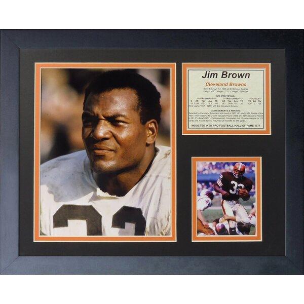 Jim Brown - Portrait Framed Memorabilia by Legends Never Die