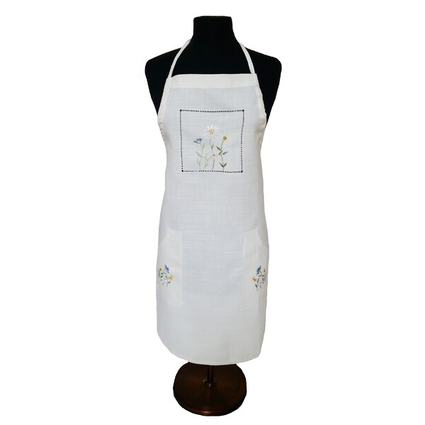 Spring Field Embroidered Cutwork Apron by Xia Home Fashions