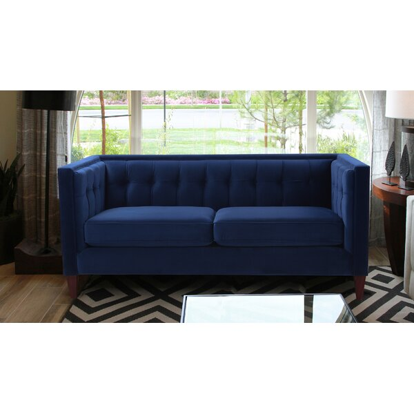 Best Recommend Harcourt Tuxedo Chesterfield Loveseat Hello Spring! 66% Off