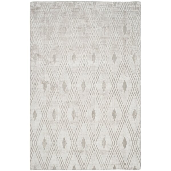 Maxim Hand-Woven Gray Area Rug by Brayden Studio