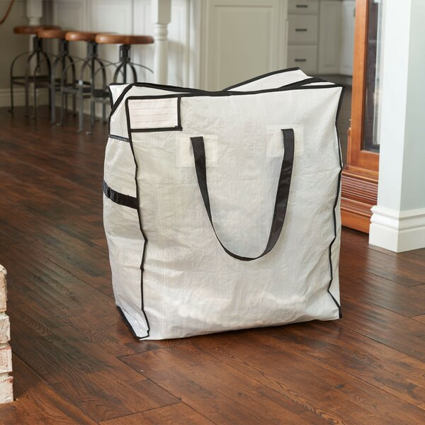 Storage and Organization Medium Tote Bag with Trim by Household Essentials