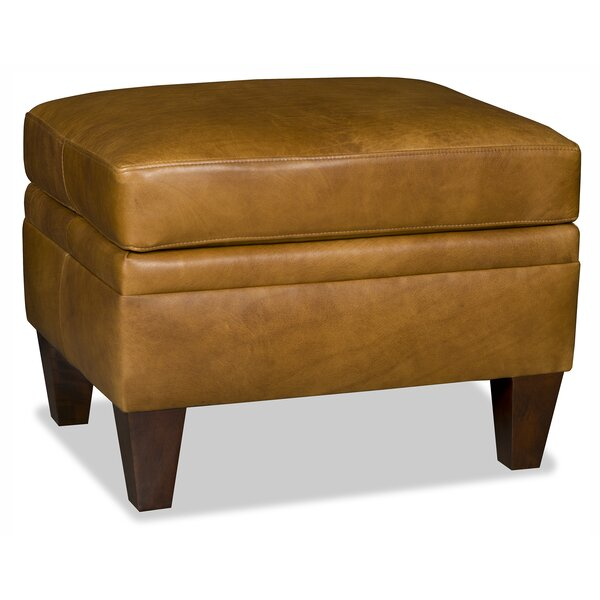 Barnabus Leather Ottoman By Bradington-Young
