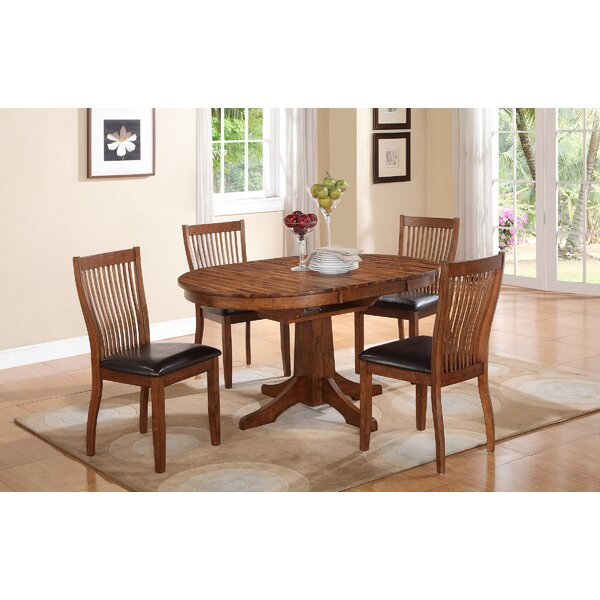 Blanco Point 5 Piece Extendable Solid Wood Dining Set by Loon Peak
