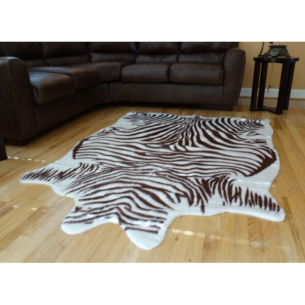 Chanler Brown/White Zebra Area Rug by Bloomsbury Market