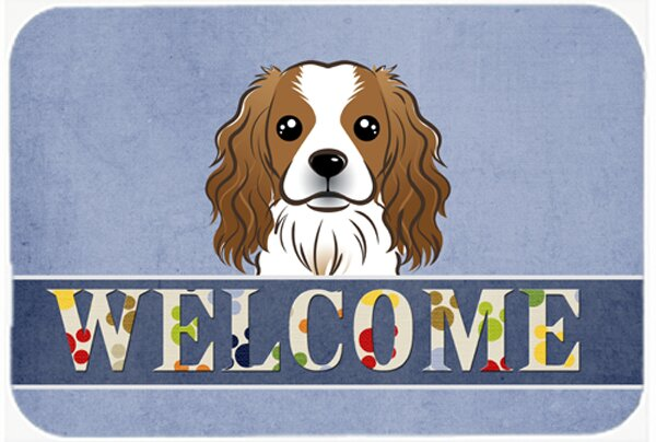 Cavalier Spaniel Welcome Kitchen/Bath Mat