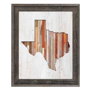 'Texas Lumber' Framed Wall Art by Click Wall Art