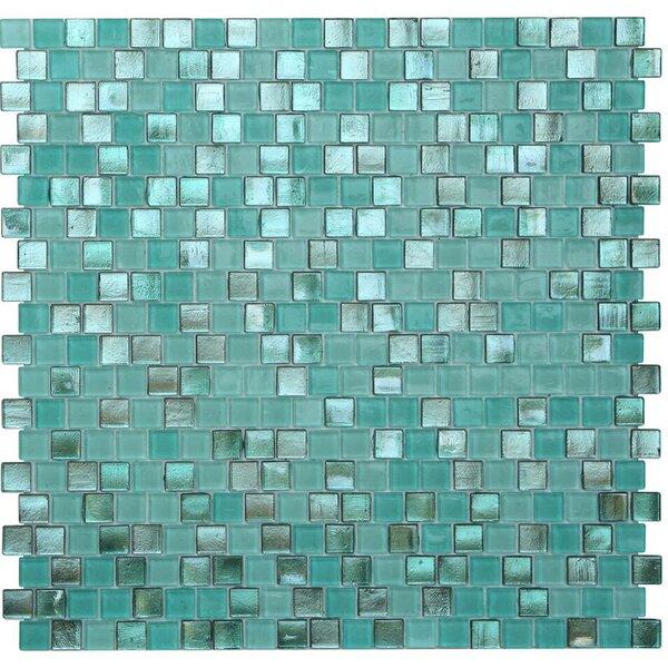 Opal 0.63 x 0.63 Glass Mosaic Tile in Biscayne Bay by Kellani