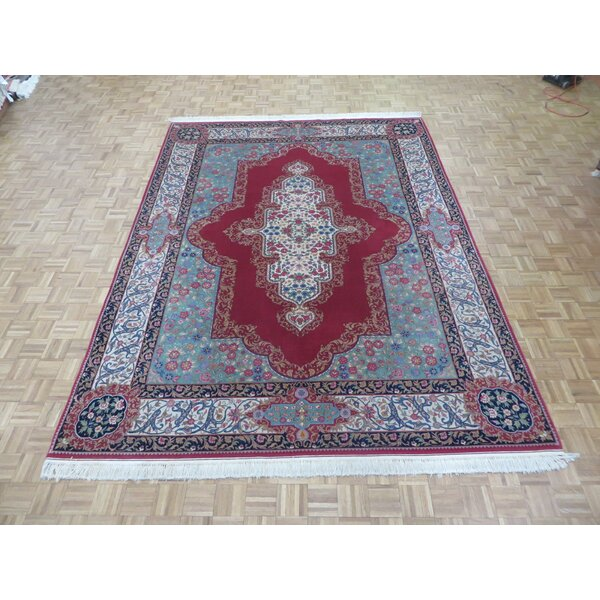 One-of-a-Kind Rainbolt Hand-Knotted Wool Red Area Rug by Astoria Grand
