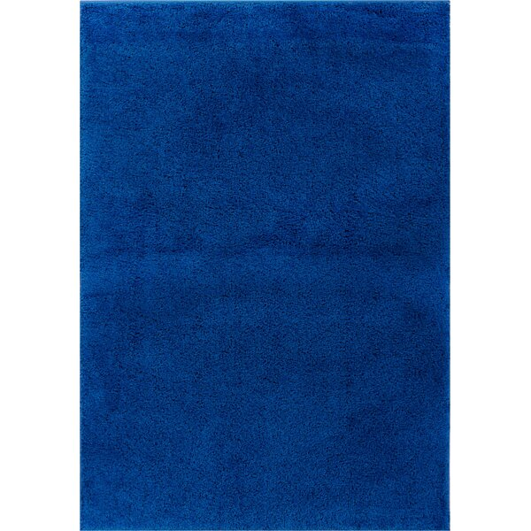 Reynolds Plain Solid Dark Blue Area Rug by Ebern Designs