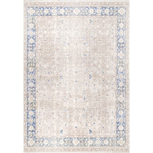 Felker Light Gray Area Rug by Bungalow Rose