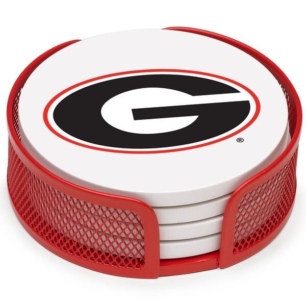 5 Piece University of Georgia Collegiate Coaster Gift Set by Thirstystone