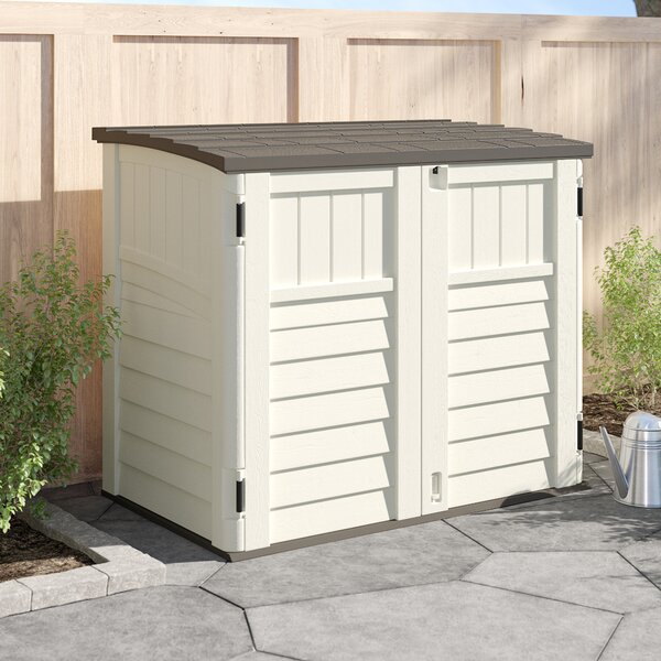 Outdoor 4 Ft.  5 In. W X 2 Ft. 9 In. D Horizontal Storage Shed By Suncast