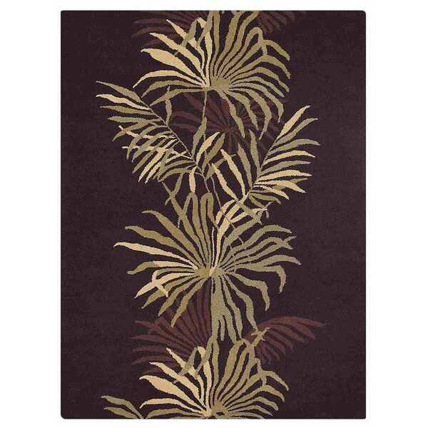Campas Hand-Tufted Brown Area Rug by Red Barrel Studio