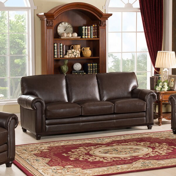 Coventry Top Grain Leather Sofa by Westland and Birch