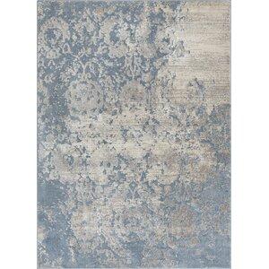 Rubio Ora Vintage Soft Oriental Blue Area Rug