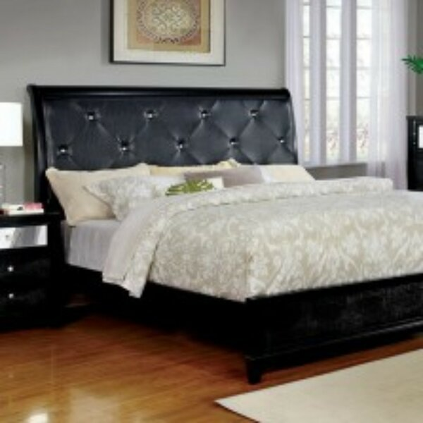 Barkley Upholstered Sleigh Bed by Canora Grey Canora Grey