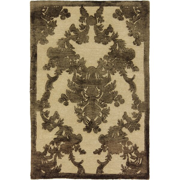 One-of-a-Kind Auburn Nepali Hand-Knotted Brown Area Rug by Isabelline