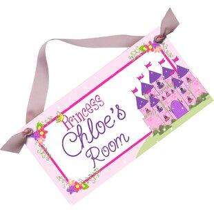 Princess Personalized Bedroom Door Sign