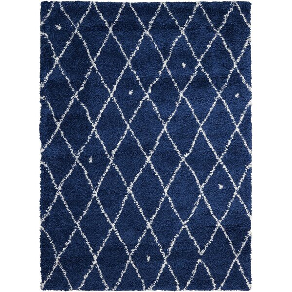 Riad Navy/White Area Rug by Calvin Klein