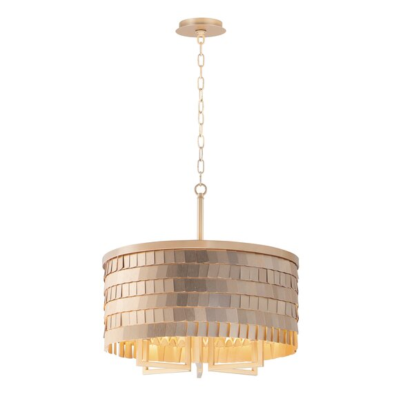 Wolfe 6 - Light Unique Drum Chandelier by Everly Quinn Everly Quinn
