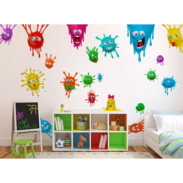 Silly Splats Wall Decal by Wall-Ah!