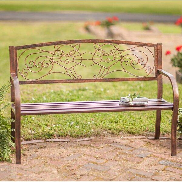 Cat Metal Garden Bench By Wind & Weather