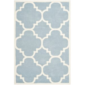 Wilkin Hand-Tufted Blue/Ivory Area Rug