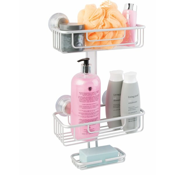 Metro Aluminum 3 Tier Suction Shower Caddy by InterDesign