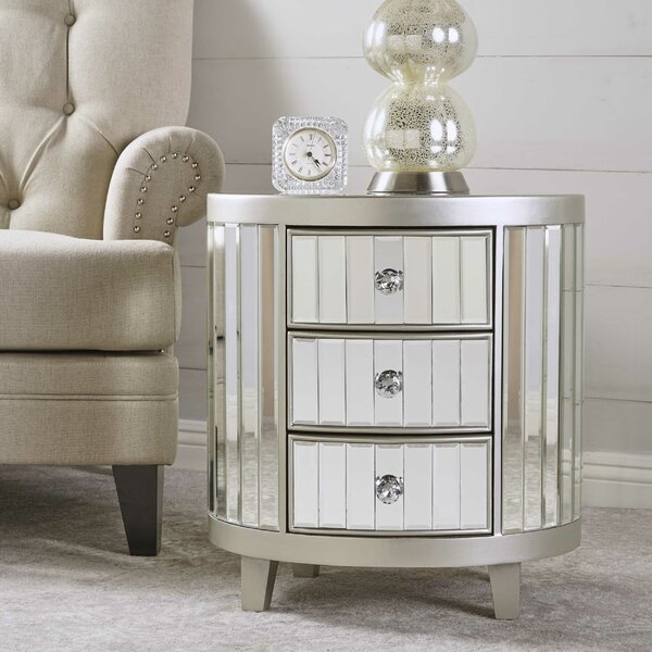 Leone Mirrored 3 Drawer Accent Chest by House of Hampton