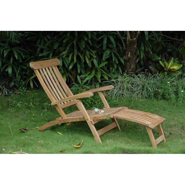Royal Reclining Teak Chaise Lounge by Anderson Teak Anderson Teak