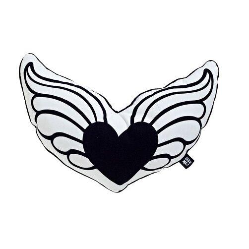 Hearts a Flutter Cotton Throw Pillow by Sugar & Tots