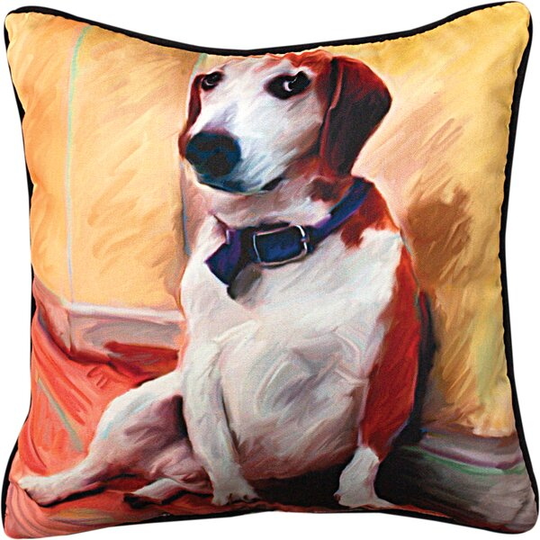 Being a Beagle Throw Pillow by Manual Woodworkers & Weavers