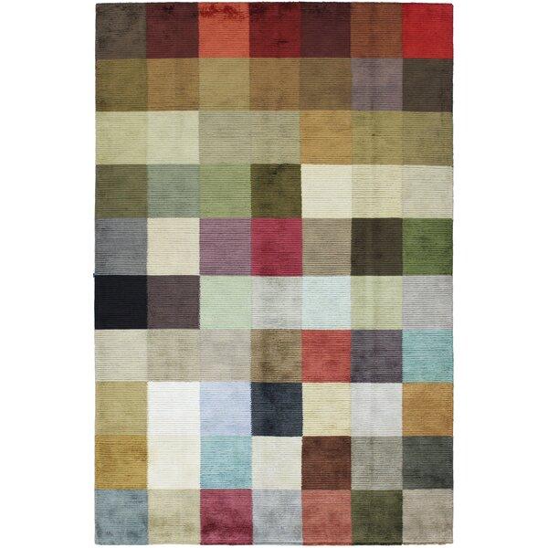One-of-a-Kind Radovanova Hand-Woven Wool Green/Ivory Area Rug by Latitude Run