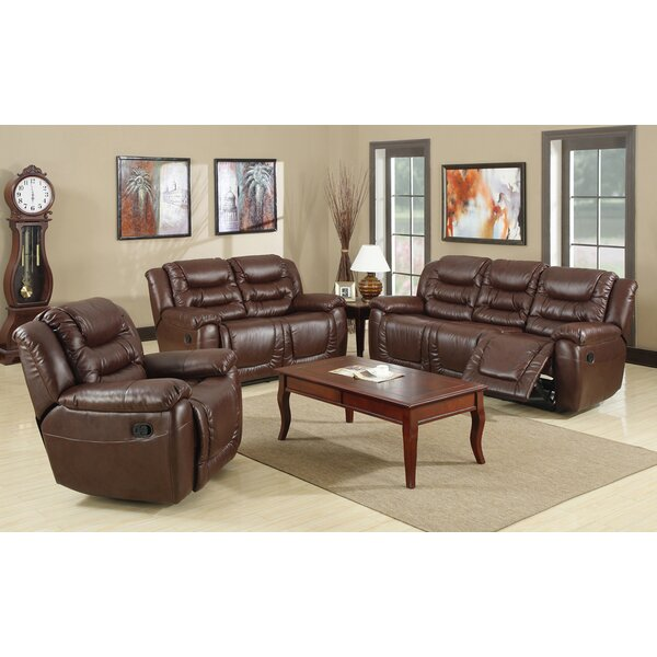 Faulks Reclining 3 Piece Living Room Set by Winston Porter