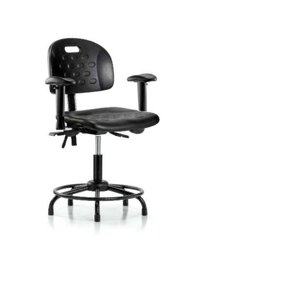 Jade Round Tube Base Ergonomic Office Chair by Symple Stuff