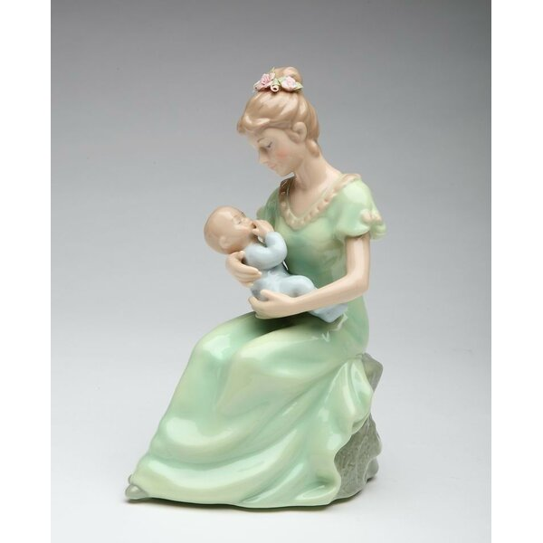Decorative Mom Holding a Baby Boy Musical Box by C