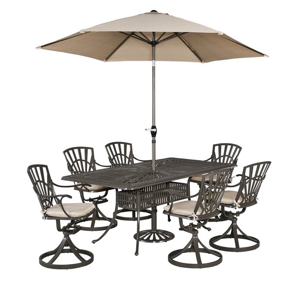 Frontenac 9 Piece Dining Set with Cushions by Astoria Grand