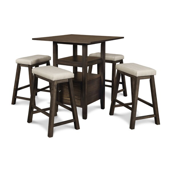 Bleeker 5 Piece Counter Height Dining Set by August Grove August Grove